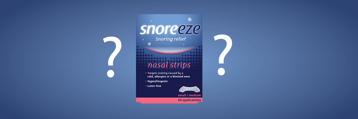 How does a Snoreeze Nasal Strip work?