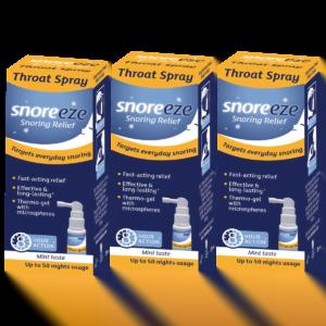 Snoreeze Throat Spray Triple Pack
